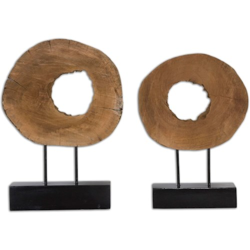 Uttermost Accessories Ashlea Wooden Sculptures Set of 2