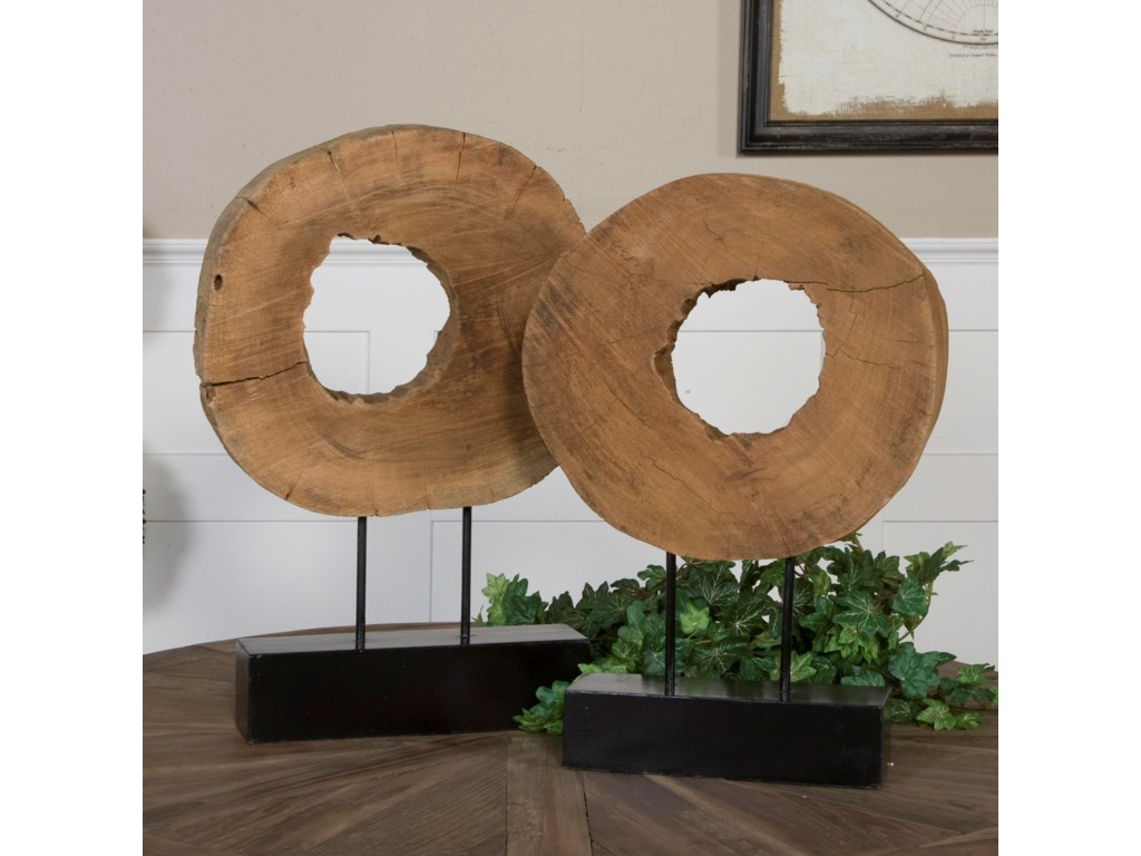 Uttermost AccessoriesAshlea Wooden Sculptures Set of 2