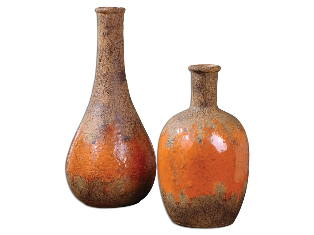 Uttermost Accessories - Vases and UrnsKadam Ceramic Vases, Set of  2