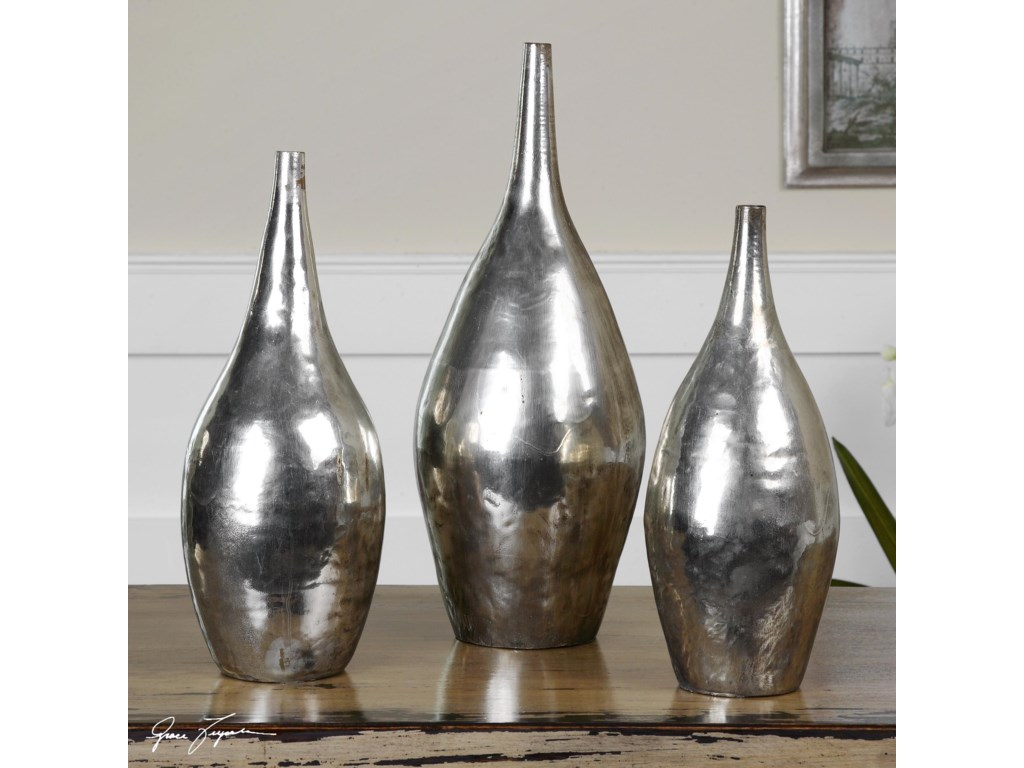 Uttermost AccessoriesRajata Silver Vases Set of 3