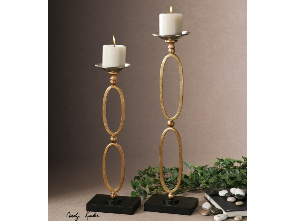 Uttermost AccessoriesLauria Chain Link Candleholders, Set of  2
