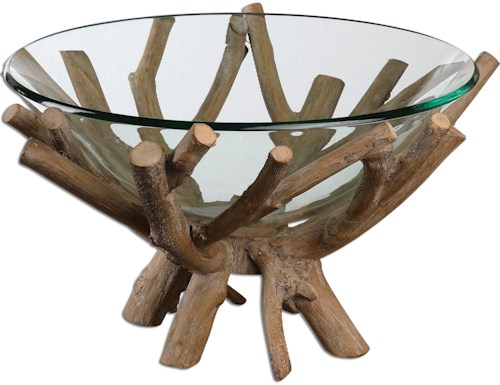 Uttermost Accessories Thoro Wood Bowl