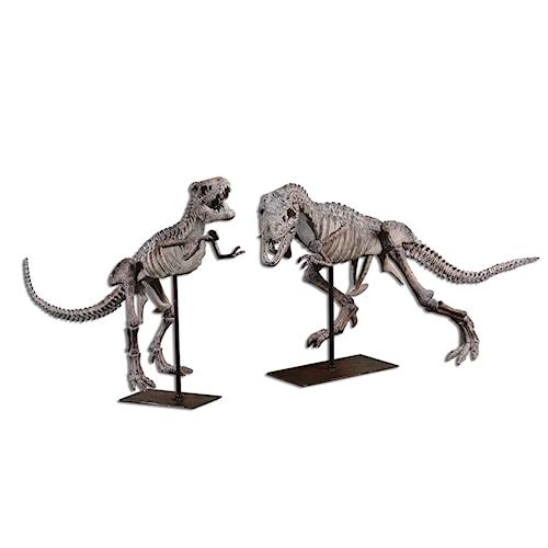 Uttermost Accessories T-Rex Sculptures, Set of  2