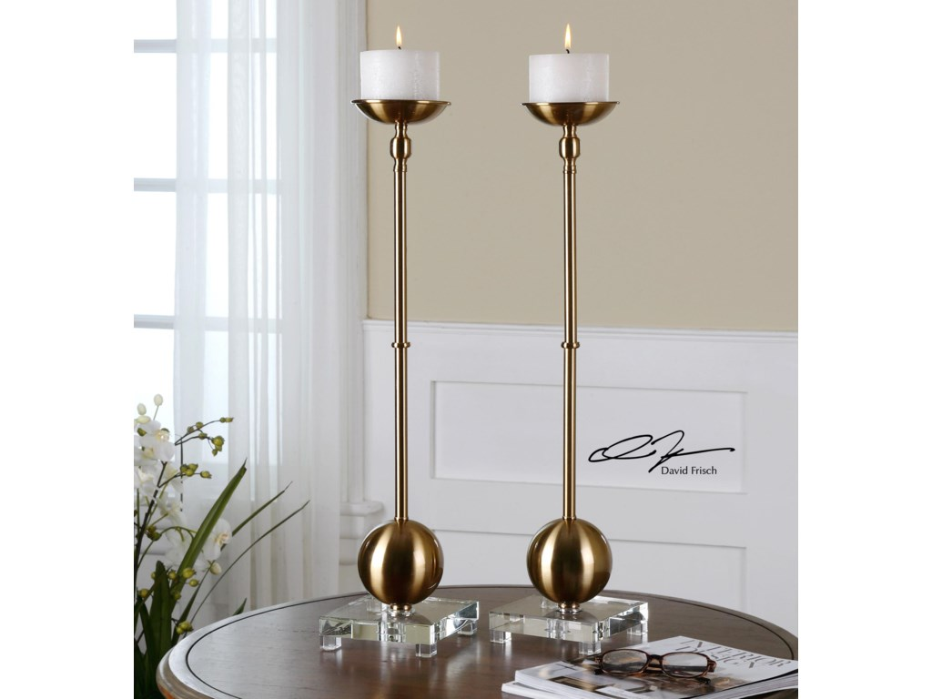 Uttermost AccessoriesLaton Brass Candleholders, Set of  2