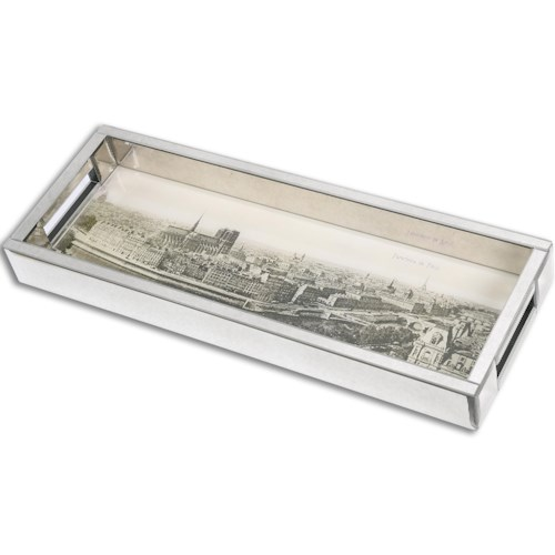 Uttermost Accessories Panorama De Paris Mirrored Tray