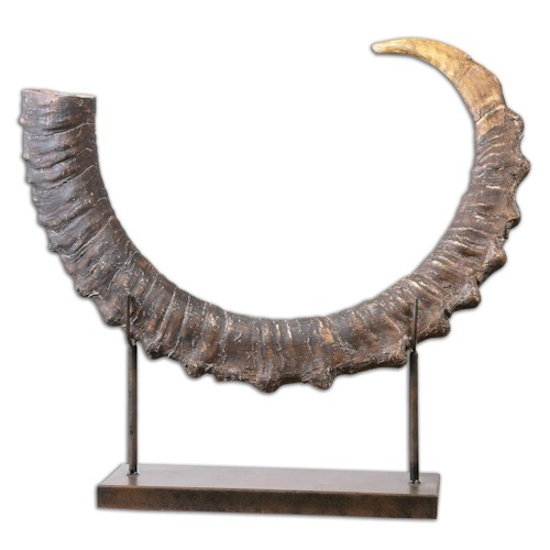 Uttermost Accessories Sable Antelope Horn Sculpture