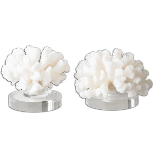Uttermost Accessories Hard Coral Sculptures, Set of 2