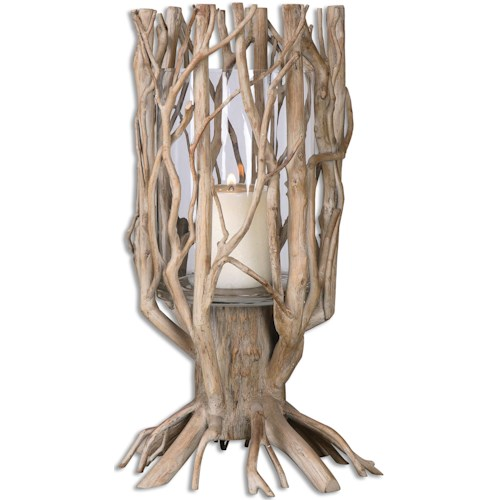 Uttermost Accessories Ugo Natural Wood Candleholder