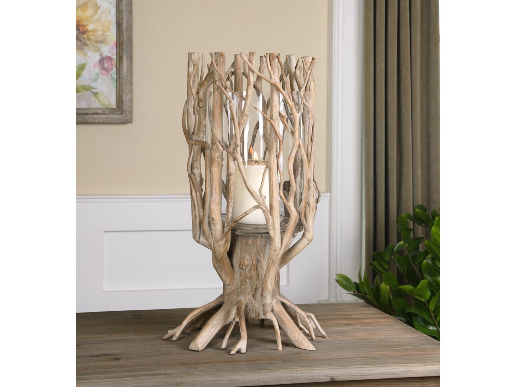 Uttermost AccessoriesUgo Natural Wood Candleholder