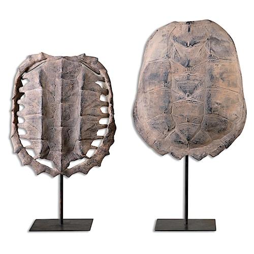 Uttermost Accessories Turtle Shells, S/2