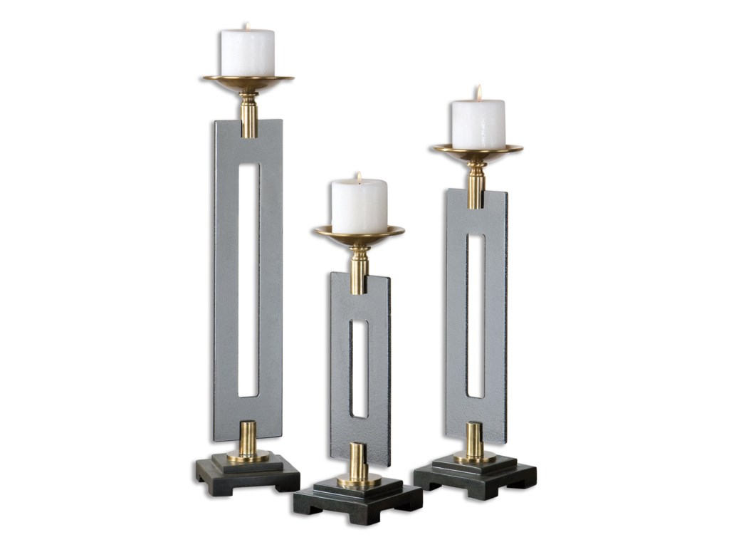 Uttermost AccessoriesEverly Bronze Candleholders S/3