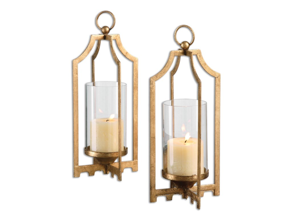 Uttermost Accessories - Candle HoldersLucy Gold Candleholders S/2