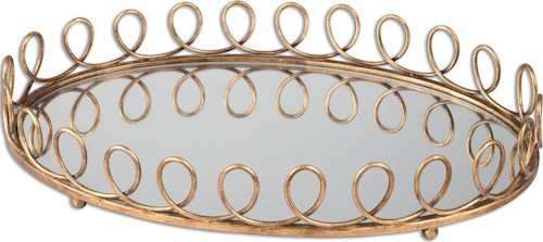 Uttermost Accessories Eclipse Mirrored Tray