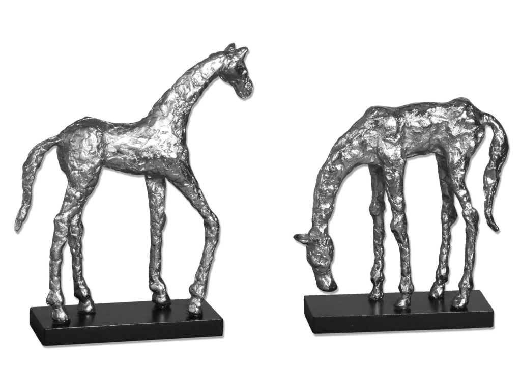 Uttermost AccessoriesLet's Graze Horse Statues, S/2