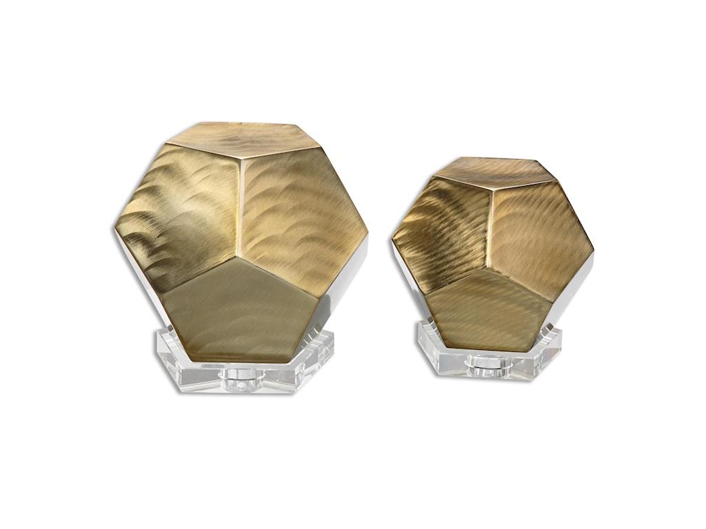Uttermost AccessoriesPentagon Coffee Bronze Cubes S/2