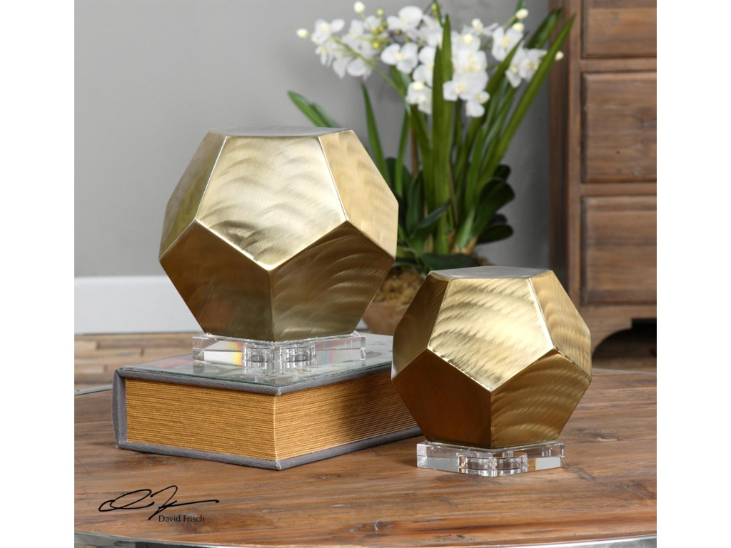 Uttermost AccessoriesPentagon Coffee Bronze Cubes S/2