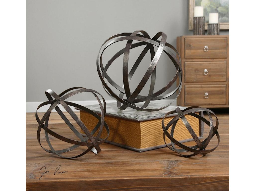 Uttermost AccessoriesStetson Bronze Spheres S/3