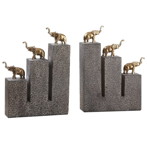 Uttermost Accessories Elephant Bookends, S/2