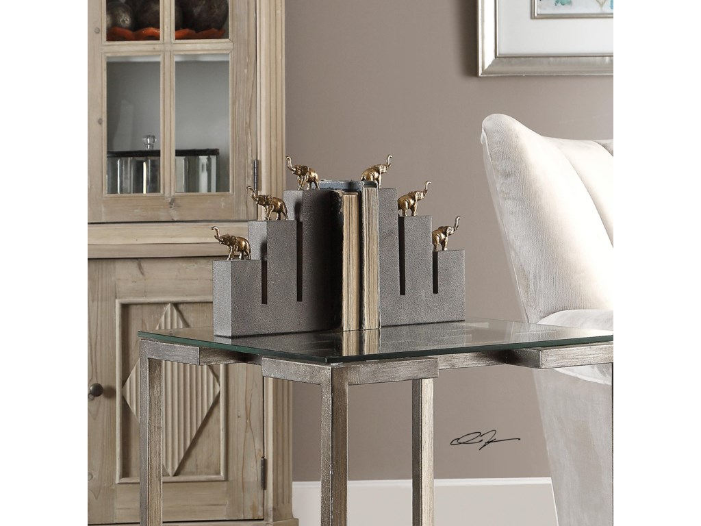 Uttermost AccessoriesElephant Bookends, S/2