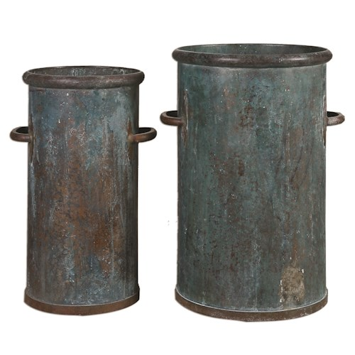 Uttermost Accessories Barnum Tarnished Copper Cans, S/2