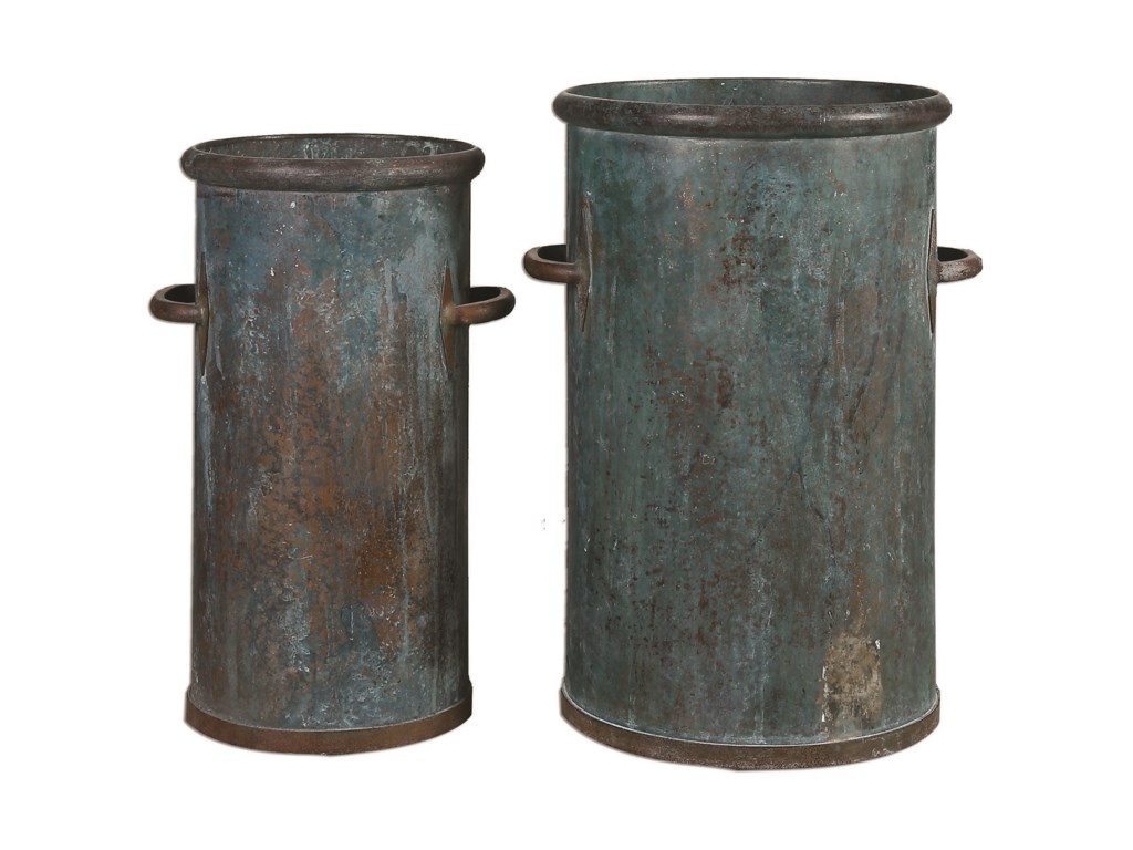 Uttermost AccessoriesBarnum Tarnished Copper Cans, S/2