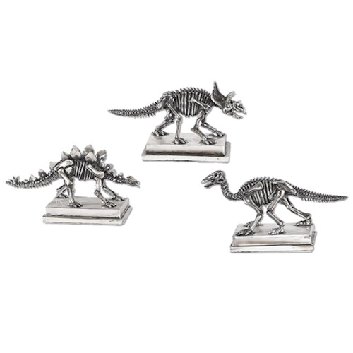 Uttermost Accessories Jurassic Silver Figures, S/3