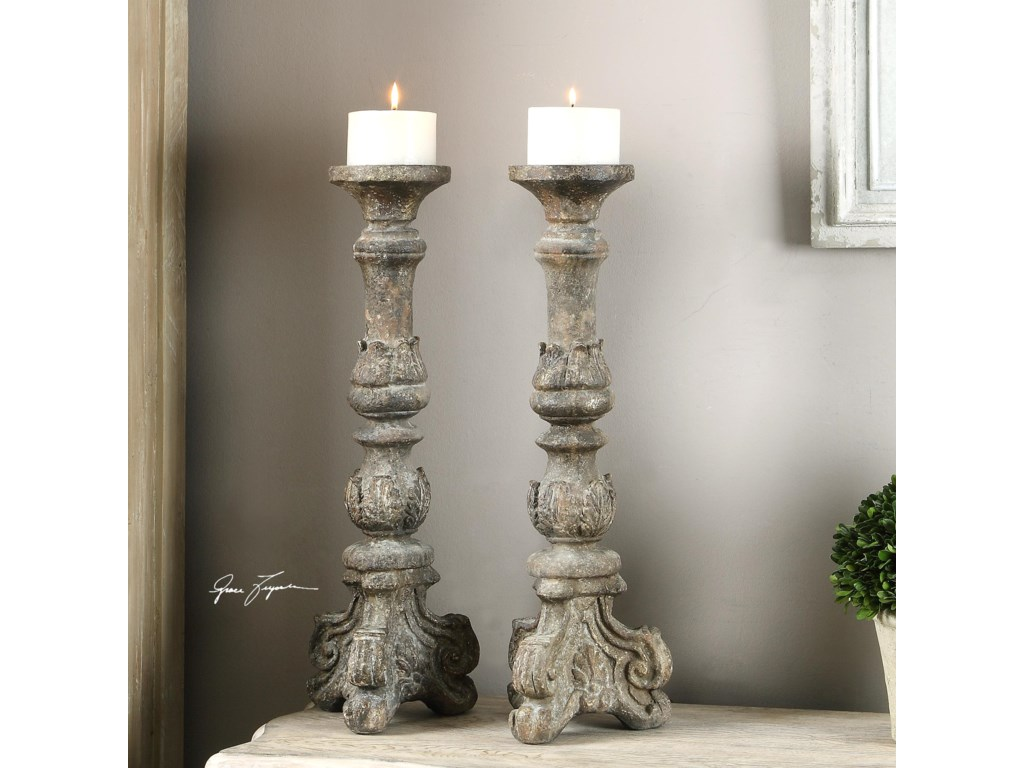Uttermost AccessoriesBogdan Antique Candleholders, S/2
