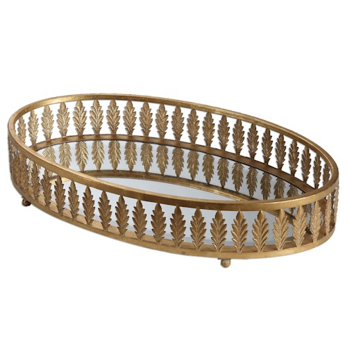 Uttermost Accessories Bevan Gold Oval Tray