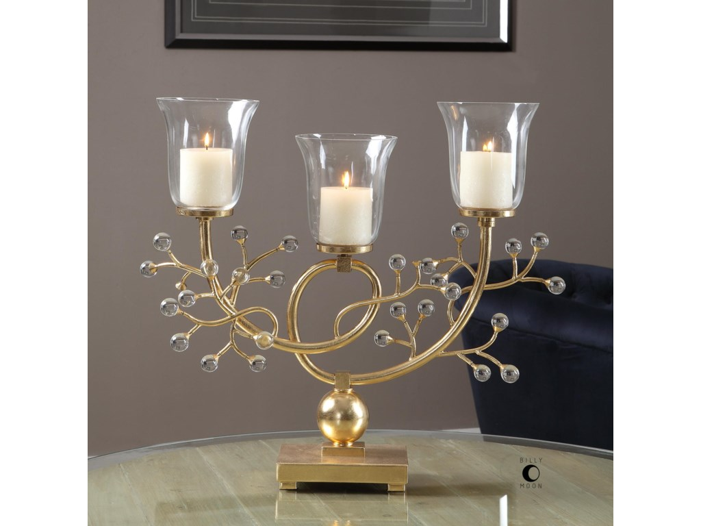 Uttermost AccessoriesBede Metallic Gold Candelabra