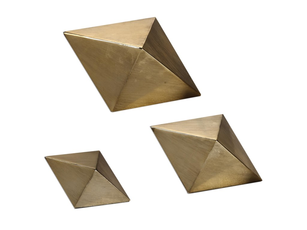Uttermost AccessoriesRhombus Champagne Accents, S/3