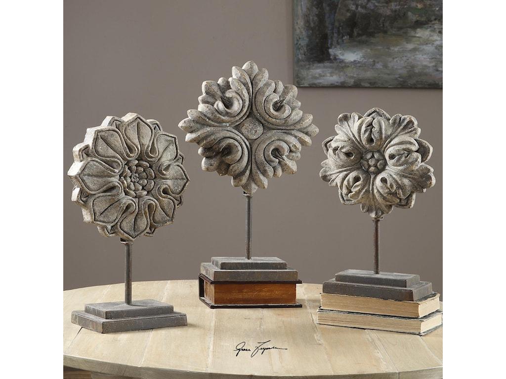 Uttermost AccessoriesAlarik Aged Ivory Florals, S/3