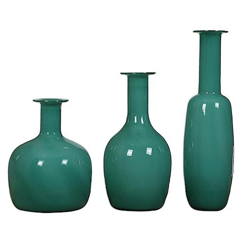 Uttermost Accessories Baram Turquoise Vases, S/3