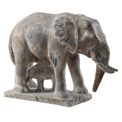 Uttermost Accessories Standing Guard Elephant Statue