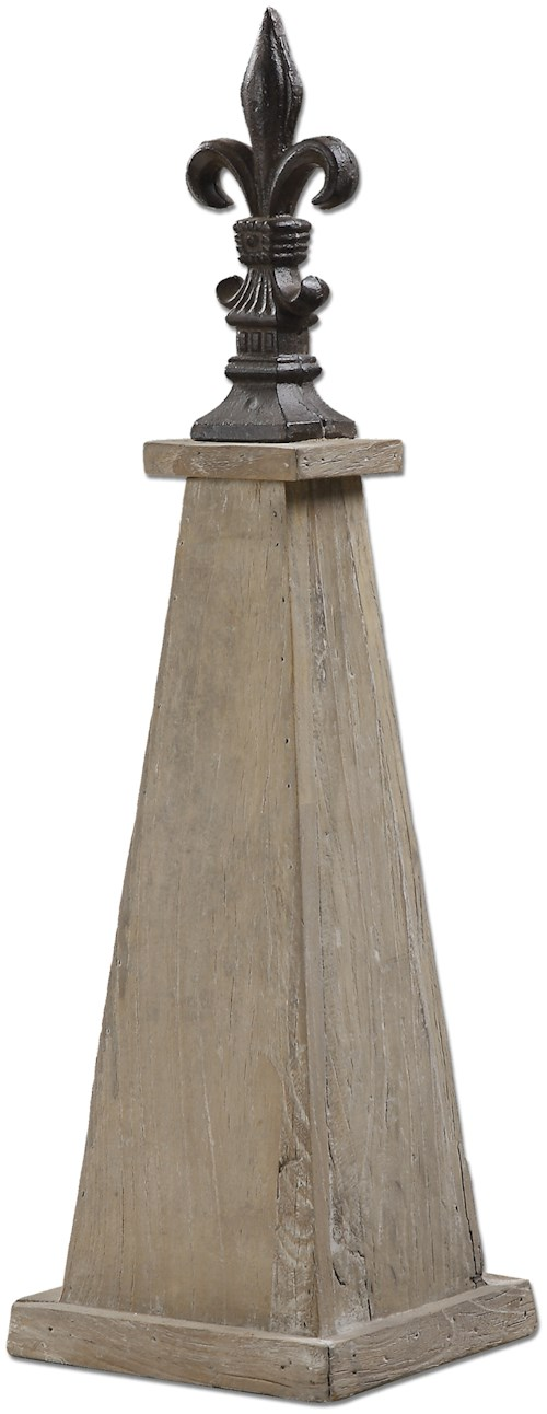 Uttermost Accessories Azizi Elm Wood Finial