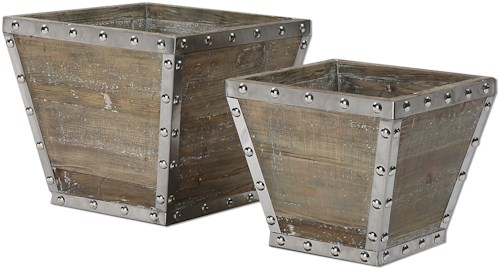 Uttermost Accessories Birtle Wood Containers S/2