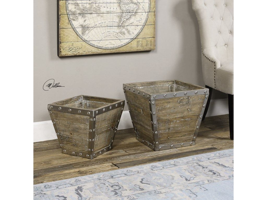 Uttermost AccessoriesBirtle Wood Containers S/2