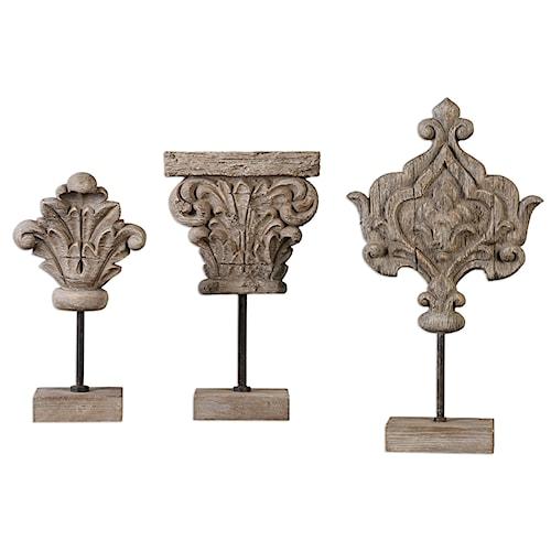 Uttermost Accessories Marta Wood Sculptures, S/3