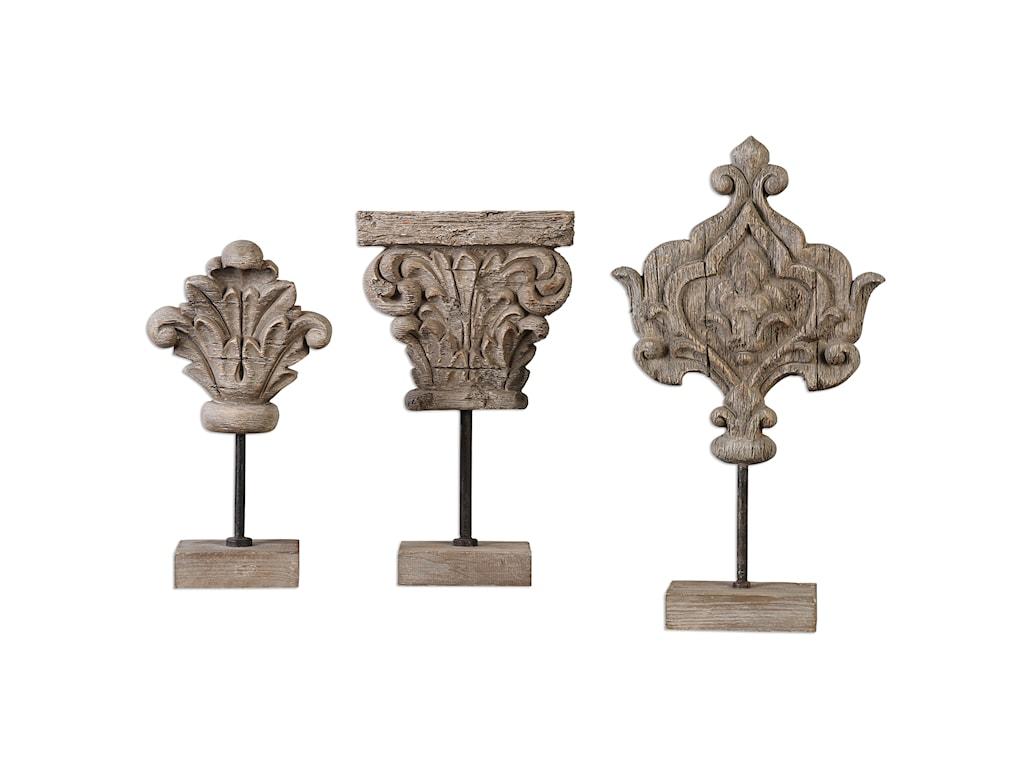 Uttermost AccessoriesMarta Wood Sculptures, S/3