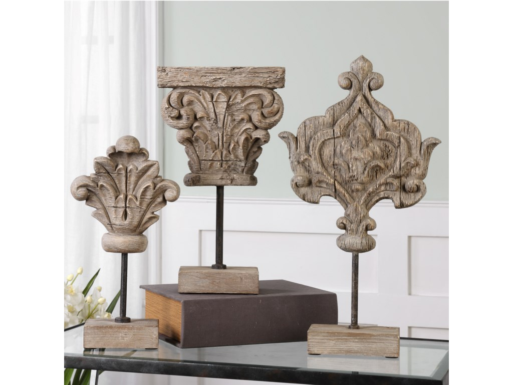 Uttermost AccessoriesMarta Wood Sculptures, S/3