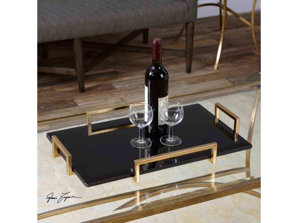 Uttermost AccessoriesEttore Black Glass Tray