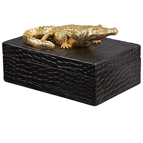 Uttermost Accessories Gold Crocodile Box