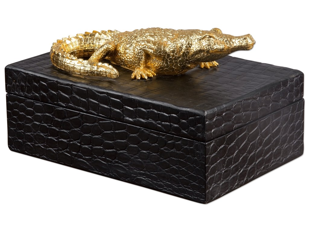Uttermost AccessoriesGold Crocodile Box