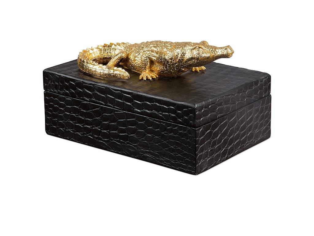 Uttermost AccessoriesGold Crocodile Box