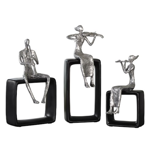 Uttermost Accessories Musical Ensemble Statues, S/3