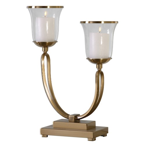 Uttermost Accessories Nunzia Coffee Bronze Candleholder