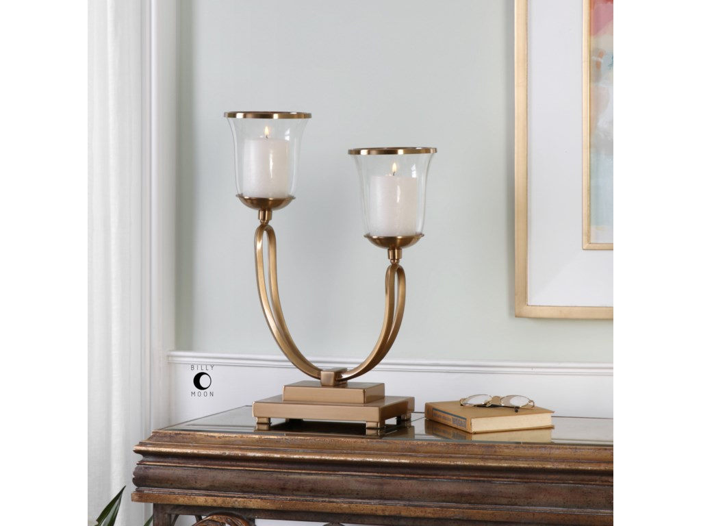 Uttermost AccessoriesNunzia Coffee Bronze Candleholder