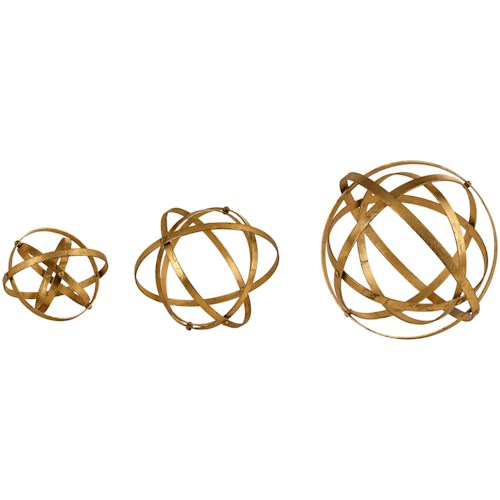 Uttermost Accessories Stetson Gold Spheres, S/3