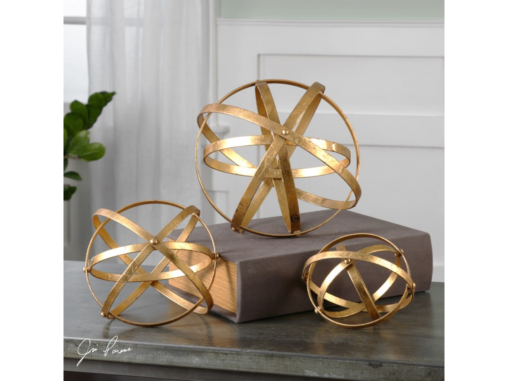Uttermost AccessoriesStetson Gold Spheres, S/3