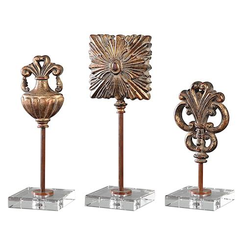 Uttermost Accessories Cesare Gold Accessories, S/3