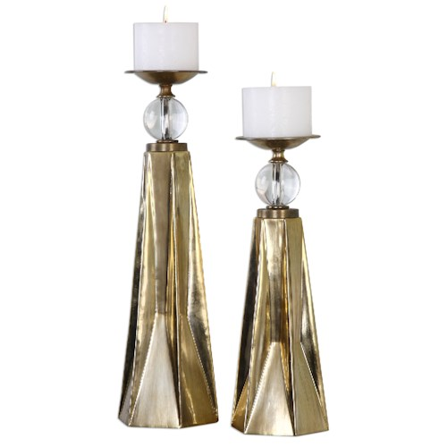 Uttermost Accessories Carlino Bronze Candleholders, S/2